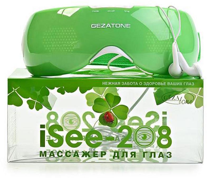 Gezatone Массажер для области вокруг глаз с функцией вибрации ISee 208 массажер аппарат gezatone массажер для глаз gezatone isee 380