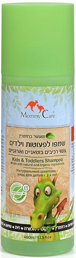 Mommy Care Натуральный шампунь 400 мл1474Шампунь для ежедневного применения бережно и нежно очищает детские волосы и кожу головы. Масла кокоса и розмарина укрепляют и придают блеск волосам, а масло ши делает их более эластичными и питают корни волос. Алоэ и оливковое масло стимулируют рост волос и предотвращают сухость кожи головы. Не содержит химических компонентов, парабенов, фталатов и SLS.