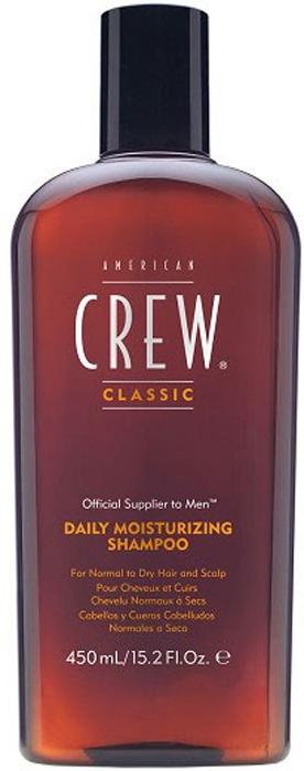 American Crew Шампунь для ежедневного ухода за нормальными и сухими волосами увлажняющий Classic Daily Moisturizing Shampoo 450 мл american crew шампунь увлажняющий daily moisturizing shampoo 1000 мл