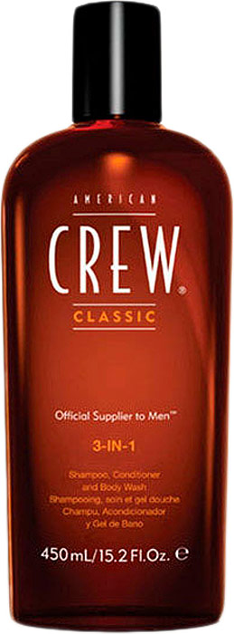 American Crew Средство 3 в 1 Шампунь, Кондиционер и Гель для душа Classic 3-in-1 Shampoo, Conditioner and Body Wash 450 мл гель для душа american crew classic body wash 450 мл
