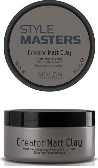 Revlon Professional SM Глина моделирующая для волос Creator Matt Clay 85 мл7207038000Средства для стайлинга сильной фиксации оставляют на волосах следы жирного блеска? Матовая глина сильной фиксации Creator Matt Clay от Revlon Professional решит эту проблему. Глина прекрасно матирует волосы, способствуя созданию стойкой укладки, не утяжеляет волосы, легко смывается водой. «Криэйтор Матт Клэй» надолго сохраняет укладку без эффекта слипшихся волос и жирного блеска, выделяет локоны, не оставляя после себя следов.