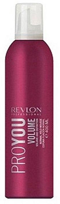 Revlon Professional Pro You Мусс для объема нормальной фиксации Volume Mousse 400 мл7203146000Тонкие волосы зачастую бывает очень трудно уложить в красивую прическу – объем быстро теряется и прическа лишается своей привлекательности. Однако, используя мусс для увеличения объема Pro You Volume можно создавать укладки любой сложности и за короткое время. Мусс не только прибавит Вам привлекательности, но и защитит от повышенной влажности и повреждения волосяного покрова, поскольку содержит в своем составе пшеничные аминокислоты и комплекс питательных веществ высокой концентрации.