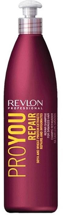 Revlon Professional Pro You Шампунь для волос восстанавливающий Repair Shampoo 350 млP0959000Восстанавливающий шампунь для поврежденных волос Pro You Repair вернет Вашим волосам послушность и блеск, мягкость и силу! В состав шампуня входят питательные вещества и компоненты, оздоравливающие и укрепляющие Ваши волосы:Экстракт сои – стимулирует производство эластина и коллагена, обладает эффектом быстрого впитывания и ассимиляции. Ваши волосы становятся прочными и эластичными!Пшеничный белок –создает на поверхности волос защитный слой, восстанавливает кутикулу и препятствует обезвоживанию волос.