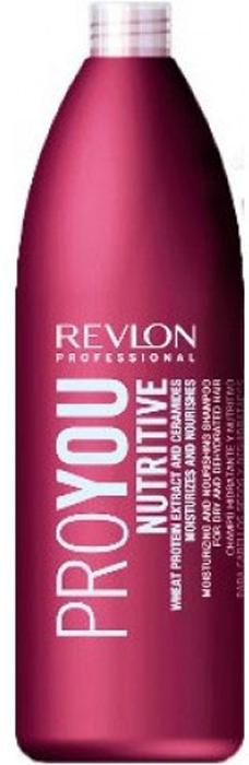 Revlon Professional Pro You Шампунь для волос увлажняющий и питательный Nutritive Shampoo 1000 мл7203140000В состав интенсивно питающего и увлажняющего шампуня Revlon Pro You Nutritive входят экстракты пшеничных ростков, обеспечивающие Вашим волосам витаминный баланс и полноценное питание. Помимо всего прочего, средство содержит керамиды – активные вещества, мгновенно укрепляющие и восстанавливающие структуру поврежденных волос. Активные компоненты шампуня покрывают волосы прозрачным защитным слоем, препятствующим возникновению сухости. Это приводит к нормализации водно-жирового баланса внутри кожного покрова головы, что способствует прекрасному внешнему виду и здоровью Ваших волос!