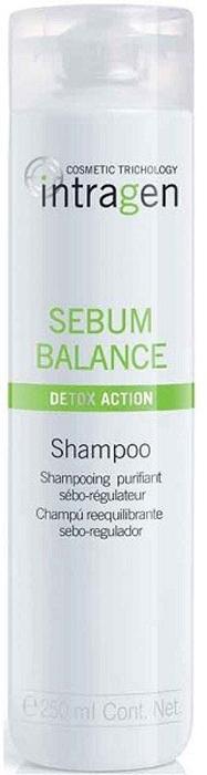 Revlon Professional Intragen INT Шампунь для жирной кожи головы Sebum Balance 250 мл7208815000Бережно очищает волосы от ежедневных загрязнений. Увлажняет волосы. Удаляет загрязнения с кожного покрова головы, убирает излишнюю жирность. Выводит токсины, улучшает состояние кожи. Питает, укрепляет волосы по всей длине. Наполняет волосы силой и энергией.