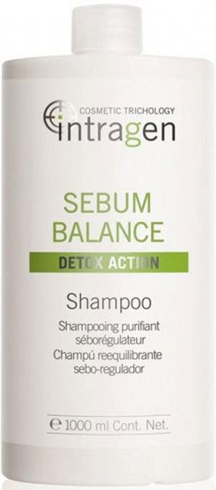 Revlon Professional Intragen INT Шампунь для жирной кожи головы Sebum Balance 1000 мл7209213000Бережно очищает волосы от ежедневных загрязнений. Увлажняет волосы. Удаляет загрязнения с кожного покрова головы, убирает излишнюю жирность. Выводит токсины, улучшает состояние кожи. Питает, укрепляет волосы по всей длине. Наполняет волосы силой и энергией.