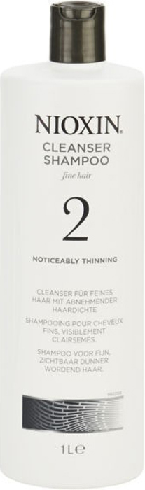 Nioxin Очищающий шампунь (Система 2) Cleanser System 2, 1000 мл81274134Шампунь очищающий Система 2 Cleanser System 2 Nioxin бережно и деликатно очищает кожу головы и волосы, а также придает им объем и густоту. Средство нейтрализует продукты внешней среды и глубоко питает структуру волос. Благодаря комплексу протеинов и аминокислот, которые входят в состав очищающего шампуня от Ниоксин, волосяная кутикула восстанавливается, и волос выглядит толще.