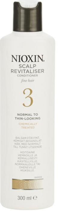 Nioxin Scalp Увлажняющий кондиционер (Система 3) Revitaliser System 3, 300 мл81274156Увлажняющий кондиционер от Nioxin из системы 3 придает объем нормальным и тонким волосам, которые поддались химической завивке. Средство мягко воздействует на кожу головы, смягчая и увлажняя ее, а также делает волосы упругими и шелковистыми. Главным действующим компонентом кондиционера от Ниоксин являются специализированные энзимы, которые обеспечивают глубокое питание волос и кожи головы. После применения увлажняющего кондиционера от Ниоксин волосы становятся пластичными, шелковистыми и приятными на ощупь, а кожа головы больше не страдает от раздражения.