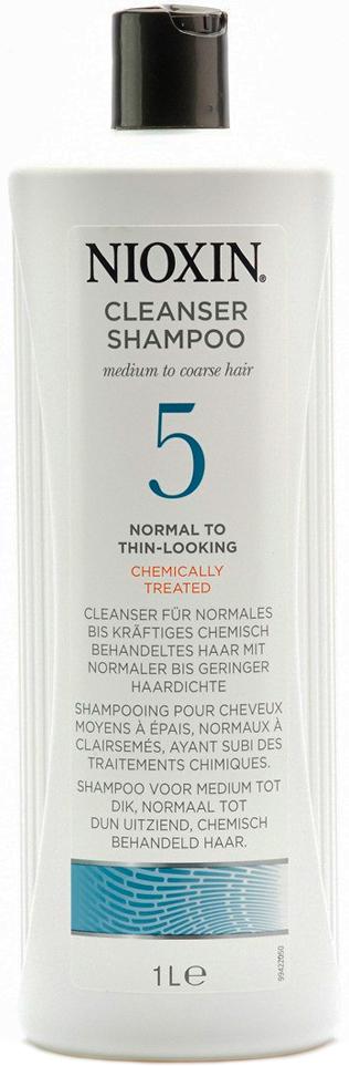 Nioxin Cleanser Очищающий шампунь (Система 5) System 5, 1000 мл81274173Шампунь очищающий Система 5 Cleanser System 5 Nioxin предназначен для жестких и непослушных волос. Средство мягко очищает кожу головы и защищает ее от вредного влияния внешней среды. Шампунь от Ниоксин содержит протеины и аминокислоты, которые разглаживают и укрепляют структуру волоса, делая ее эластичной и сильной.