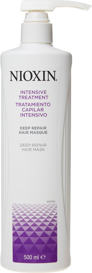 Nioxin Intensive Маска для глубокого восстановления волос Therapy Deep Repair Hair Masque 500 мл81274101Маска разработана для волос любого типа, которые стали сухими, были подвержены химическому воздействию или повреждены инструментами для укладки. Если у Вас очень сухие, поврежденные волосы, то Deep Repair Hair Masque (восстанавливающая маска) оказывает тройное укрепляющее действие, помогает восстановить поврежденные волосы, вернуть им эластичность и снизить химическое воздействие, оказываемое на волосы.