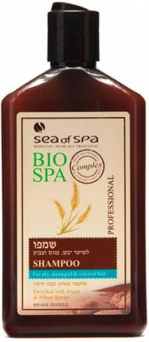 Sea of Spa Шампунь для окрашенных/поврежденных волос с маслом Аргании и ростками пшеницы, 400 мл sea of spa кондиционер для окраш поврежденных волос с маслом аргании и ши 400 мл