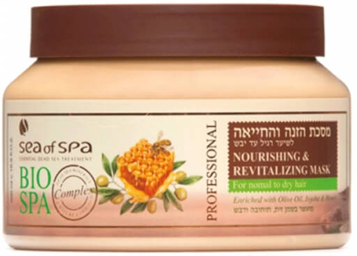 Sea of Spa Маска увлажняющая и питательная для норм/сухих волос с маслом Оливы, Жожоба и медом, 500 мл6206- заметно улучшает качество сухих волос с секущимися кончиками, предотвращает ломкость;- натуральные масла «упаковывают» волос в тончайшую пленку, защищающуют от пересыхания и воздействий окружающей среды, быстрого загрязнения;- эффекта блестящих и ухоженных волос хватает на неделю, при этом они не утяжеленные, а легкие и воздушные.