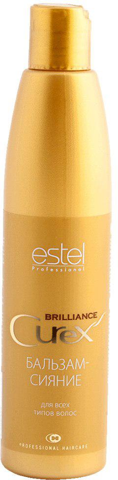 Estel Curex Brilliance Бальзам-сияние для волос 250 млCU250/B17Бальзам «БРИЛЛИАНТОВЫЙ БЛЕСК» ESTEL CUREX BRILLIANCE Содержит силоксаны, которые мгновенно восстанавливают и разглаживают волосы. Обеспечивает интенсивный блеск при завершении причесок любого вида. Результат: Экстремальный блеск. Защита от неблагоприятных воздействий.