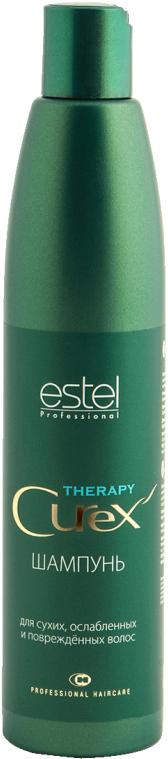 Estel Curex Therapy Шампунь для поврежденных, ослабленных и сухих волос 300 мл estel curex gentleman шампунь тонизирующий 300 мл