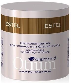 Estel Otium Diamond - Шелковая маска для гладкости и блеска волос 300 млOTM.28Разглаживает поверхность волос, обеспечивает кристальное сияние и зеркальный блеск по всей длине. Результат: Разглаживает поверхность волос до зеркального блеска, обеспечивает кристальное сияние. Не утяжеляет волосы, придаёт гладкость шёлка, эластичность и упругость.