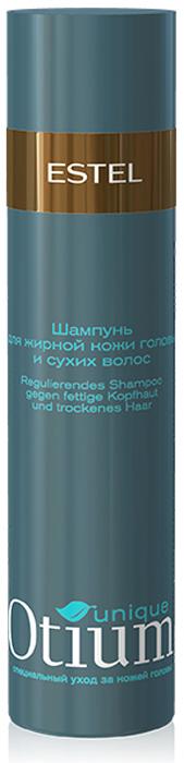 Estel Otium Unique Шампунь для жирной кожи головы и сухих волос 250 млOT.93Estel Otium Unique Шампунь для жирной кожи головы и сухих волос. Шампунь с комплексом Unique No fаt деликатно удаляет излишки жира и солей с кожи головы, стабилизирует работу сальных желёз. Увлажняет сухие волосы, кондиционирует их, придаёт здоровый вид и блеск. Идеален в сочетании с Тоник - контролем Otium Unique для жирной кожи головы. Для ежедневного применения.