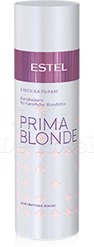 Estel Prima Blonde - Блеск-бальзам для светлых волос 200 млPB.4Тип волос: Светлые натуральные и окрашенныеАктивные вещества в составе продукта восстанавливают и укрепляют структуру светлых волос. Результат: гладкие, послушные и шелковистые волосы. После использования Блеск-бальзама расчесывание становится удовольствием. А блеск и мягкость волос усиливаются во много раз! Результат: Панктелоктон – насыщает блеском Натрий PCA – стабилизирует цвет, увлажняет волосы.