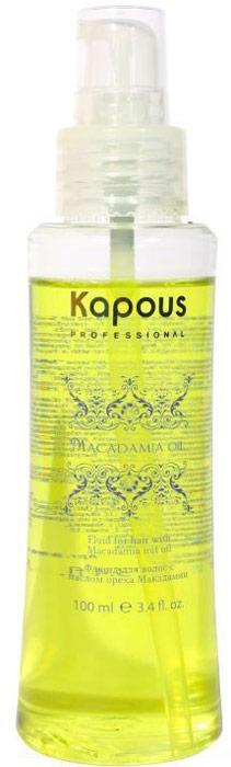 Kapous Флюид с маслом ореха макадамии Macadamia Oil 100 млKap896Профессиональный уход для ослабленных, травмированных химическим воздействием и сухих прядей способен обеспечить несмываемый флюид Macadamia Oil от бренда Капус. Использование продукта позволяет:- насытить волосы драгоценной влагой и необходимыми для красоты витаминами;- омолодить локоны по всей длине, быстро избавить их от хрупкости;- убрать сечение кончиков;- защитить пряди от негативного воздействия UV-излучения и высоких температур;- предупредить раннее появление седины. В основе прекрасных ухаживающих качеств флюида Macadamia Oil лежит высокая концентрация масла ореха макадамии – компонента, обладающего по-настоящему уникальными свойствами. Масло богато полиненасыщенными жирными и эссенциальными кислотами, отлично впитывается в волосы, улучшает их состояние изнутри, возвращает гладкость, мягкость и дарит ослепительный блеск. За счет особенной формулы флюид Macadamia Oil равномерно окутывает локоны, не перегружает и не забирает их естественной пышности, а также отличается экономичностью в использовании. Для 1 процедуры на базе прядей средней длины достаточно всего 4-5 капель продукта.