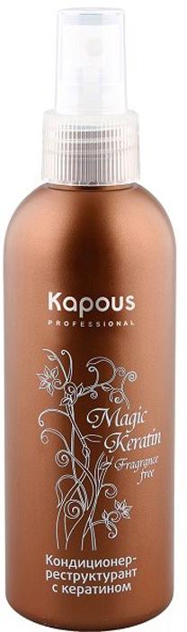 Kapous Кондиционер-реструктурант с кератином Magic Keratin 200 млKap330Кондиционер-реструктурант Kapous Magic Keratin с кератиномразработан для ухода за сухими и сильно поврежденными волосами. Это средство поможет позаботиться об уставших, неоднократно окрашенных, обесцвеченных и подвергшихся химической завивке волосах. Кондиционер проникает глубоко в структуру волоса и, благодаря кератину в своем составе, способствует регенерации поврежденных участков. Такое действие делает волосы более блестящими, эластичными и сильными. Кондиционер дополнительно питает волосы и защищает их от негативных факторов окружающей среды. Средство не содержит косметических отдушек. Результат: Структура волос восстановлена. Они стали более эластичными и прочными. Волосы вновь обрели блеск и жизненную силу. Они защищены от разрушающего воздействия негативных факторов окружающей среды.
