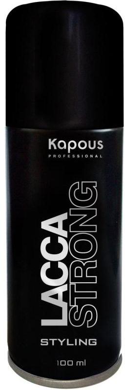 Kapous Professional Лак аэрозольный для волос сильной фиксации 100 мл82Лак аэрозольный для волос сильной фиксации Kapous.Экологический лак для волос сильной фиксации предназначен для фиксации оформленной прически. Идеален для создания подвижной укладки и придания объёма. Устойчив к влажности. Удаляется с волос несколькими взмахами расчески. Очень тонкое распыление. Результат: Быстро высыхает на волосах, прекрасно фиксирует их и придает здоровый блеск.