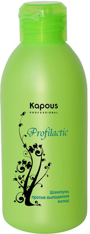 Kapous Profilactic Шампунь против выпадения волос 250 мл218Шампунь Profilactic Kapous с комплексом активных компонентов имеет лёгкую текстуру и приятный аромат персика, специально разработан для предотвращения выпадения волос, а так же для усиления их роста. Шампунь деликатно очищает волосы и подойдет любому типу волос, является мощной профилактикой для здоровых волос, оказывает укрепляющее действие на корни и препятствует выпадению, значительно улучшая качество волос, стимулирует их рост. Главное преимущество заключается в высокой концентрации основного активного вещества — экстракте хмеля, который усиливает микроциркуляцию крови у корней волос, повышает синтез цистеиновой аминокислоты, обеспечивает питание волосяных фолликул, ускоряя обменные процессы, в результате чего усиливается рост волос.