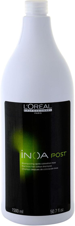 L'Oreal Professionnel INOA Шампунь для завершения окрашивания волос красителем Inoa Post Shampoo - 1500 мл30283626Специальный продукт для финализации окрашивания. Применяется после применения красок линейки Inoa. Средств является важным и неизменным этапом после профессионального окрашивания системой Inoa. Продукт восстанавливает водный баланс, запечатывает приподнятую кутикулу волоса, локоны становятся послушнее и гибче. Дарит мягкость и гладкость. Шампунь помогает закрепить пигменты, проникшие в волосы после окрашивания. Что в свою очередь дарит насыщенный и глубокий цвет на долгое, долгое время.