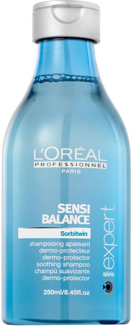 LOreal Professionnel Шампунь для чувствительной кожи головы Expert Sensi Balance - 250 млE0077539Шампунь для чувствительной кожи головы Сенси Баланс (Sensi Balance) нежно очищает волосы. В состав средства входят:производные от сорбитола (формула Sorbitwin) - успокаивают чувствительную кожу головы, снимают жжение и зуд;витамины - питают кожу головы и волосы;увлажняющие компоненты - поддерживают гидробаланс кожи головы и волос.