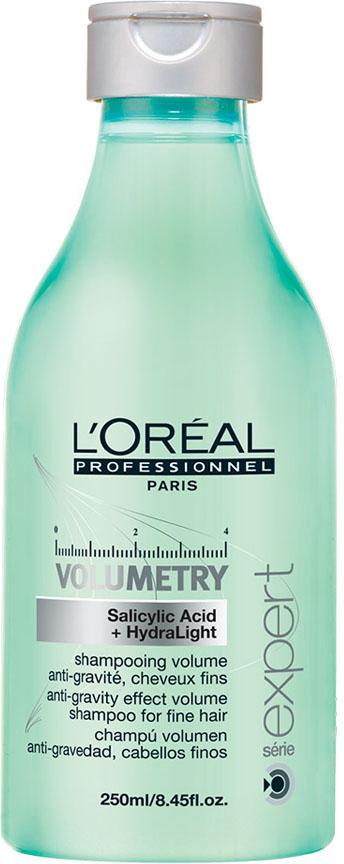 LOreal Professionnel Expert Volumetry - Шампунь для придания объёма 250 млE0527119Профессиональный шампунь, придающий объем ослабленным и истонченным волосам - LOreal Professionnel Volumetry Shampoo – это бережное очищение с помощью салициловой кислоты, позволяющей удалять излишки жира и тем самым приподнимать корни волос, создавая необходимый объем. Уникальная технология Intra-Cylane работает со структурой волос изнутри, делая их здоровыми и блестящими. Результат: Великолепный объем, сияние и мягкость здоровых волос на продолжительное время.