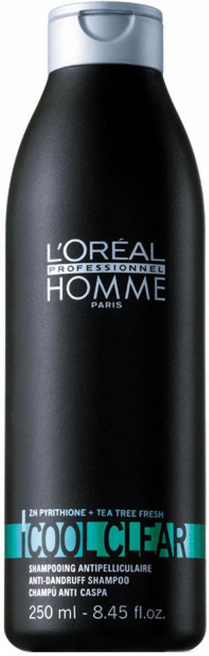 LOreal Professionnel Homme - Освежающий Шампунь от перхоти Кул Клир 250 млE0342477Освежающий шампунь от перхоти Кул Клир серии LP Homme дает заметный результат уже после первого применения. Это эффективное средство для очищения волос и кожи головы, которое полностью избавляет от перхоти, а также предотвращает ее новое появление. Продукт способствует поддержанию нормального pH-баланса кожи головы. В состав шампуня входят цинк-пиритион и экстракт чайного дерева.