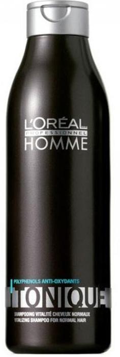 LOreal Professionnel Homme - Шампунь Тоник 250 млE0130418Шампунь-тоник для мужчин. Предназначен для волос нормального типа, подходит для использования каждый день. Средство дарит волосам жизненную энергию и здоровое сияние. Подходит для очищения окрашенных волос.
