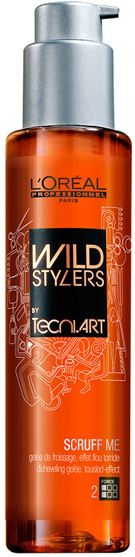 L'Oreal Professionnel Желе для создания эффекта взъерошенных волос (фикс. 2) Tecni.art Wild Stylers Scruff Me - 150 мл
