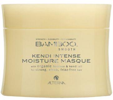Alterna Полирующая маска для интенсивного увлажнения волос Bamboo Smooth Kendi Intense Conditioning Masque - 150 мл81439005Насыщенная маска Alterna Bamboo Smooth Kendi Intense Moisture Masque глубоко насыщает волосы необходимыми жизненно важными питательными элементами, интенсивно увлажняет волосы, придавая им здоровый вид и блеск. Укрепляет волосы, а благодаря органическому маслу Кенди, волосы приобретают гладкость, завитки вьющихся волос выравниваются и волосы становятся послушными как никогда ранее. Маска преобразует жесткие и непокорные волосы в ровные, гладкие и ухоженные волосы. Она укрепляет фолликулы волос, разглаживает секущиеся кончики и убирает пушистость, благодаря чему волосы приобретают жизненную силу, ухоженный и здоровый вид.Результат: После применения маски, волосы легко поддаются укладке, становятся послушными и легко управляемыми. В состав маски с экстрактом бамбука входит технология Color Hold, которая позволяет продлить стойкость цвета, усиливает его насыщенность и яркость, а волосам придает сияющий блеск.