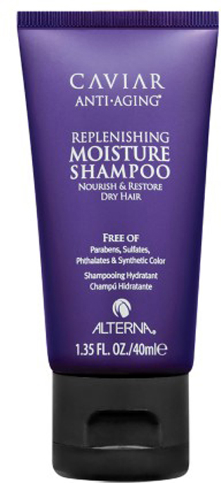 "Alterna Увлажняющий шампунь c морским шелком Caviar Anti-Aging Replenishing Moisture Shampoo - 40 мл alterna спрей ""абсолютная термозащита"" caviar anti aging perfect iron spray 122ml"