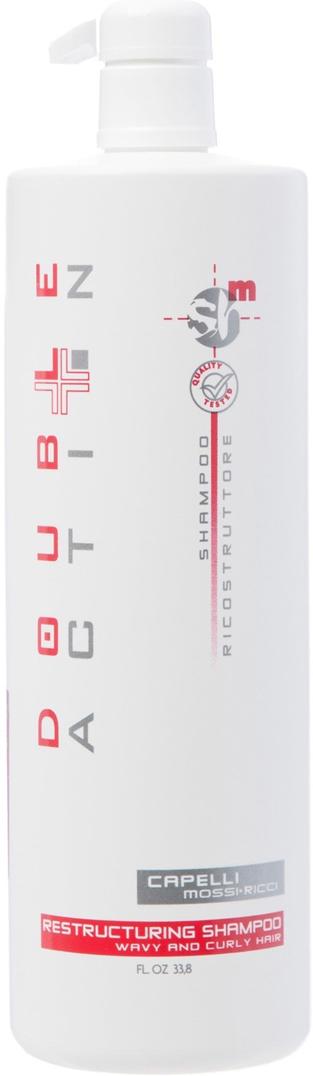 Hair Company Шампунь восстанавливающий для прямых волос Double Action Shampoo Ricostruttore Capelli Liscii 1000 мл010146/LB11465 RUSШампунь восстанавливающий для прямых волос Hair Company Double Action Shampoo Ricostruttore Capelli Liscii Шампунь создан по системе гидроконтроль, тщательно и одновременно мягко очищает волосы и кожу головы. Активные вещества растительного происхождения обеспечивают оптимальный уход структуре волоса. Керамиды для восстановления структуры волоса и укрепления кутикулы. Комплекс аминокислот для питания волос, для улучшения косметического качества волос. Катионный элемент для предотвращения образования секущихся кончиков. Оливковое масло, витамин В — увлажняющий компонент для комфорта кожи головы. Шампунь мягко моет волосы и кожу головы, легко пенится и обладает приятным ароматом. После использования шампуня ваши волосы легко расчесываются и укладываются, приобретают свежесть и изысканный блеск. Результат: облегчение укладки недисциплинированных волос, их мягкость, свежесть и блеск в течение длительного времени!