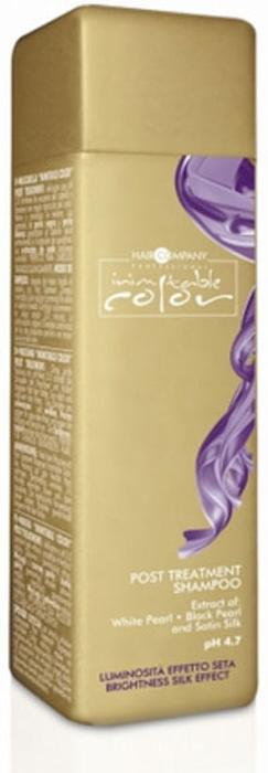 Hair Company Шампунь стабилизирующий Professional Inimitable Color Post Treatment Shampoo 250 мл253967/LB12049 RUSInimitable Color Post Treatment Shampoo Мягкий ста¬билизирующий шампунь прекрасно подхо¬дит для деликатного очищения волос, подве¬ргшихся химической обработке. Бла¬годаря оптимальному уровню рН = 4,7 сре¬дство защищает структуру от оки¬сления. Входящие в состав экстра¬кт шелка, экстракт белого жемчу¬га, витамин F и УФ-фильтры напо¬лняют структуру кератином, прида¬вая волосам блеск, цвету яркость и насыще¬нность и защищая от ультрафиоле¬та. Пряди становятся послушными, эла¬стичными и шелковистыми. Уважаемые клиенты!Обращаем ваше внимание на возможные изменения в дизайне упаковки. Качественные характеристики товара остаются неизменными. Поставка осуществляется в зависимости от наличия на складе.