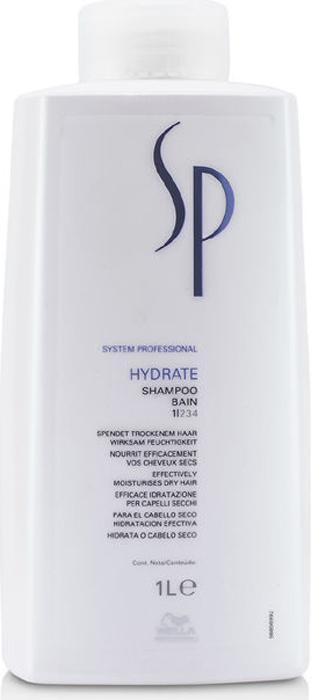 Wella SP Увлажняющий шампунь Hydrate Shampoo, 1000 мл81223276Увлажняющий шампунь Wella SP Hydrate Shampoo предназначен для деликатного ухода за нормальными и сухими волосами. Средство глубоко питает и насыщает волосы влагой, благодаря этому волосы меньше спутываются и лучше расчесываются. Увлажняющий шампунь от Велла подходит для ежедневного применения.