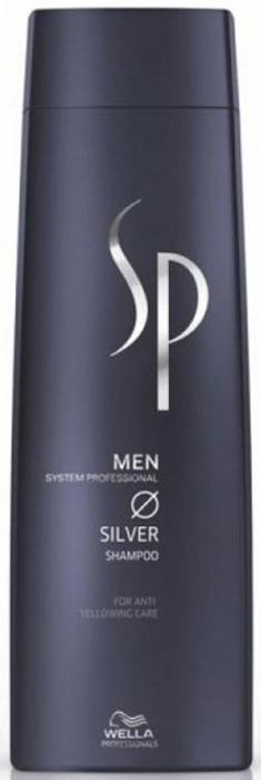 Wella SP Шампунь с серебристым блеском Men Silver Shampoo, 250 мл81391160Шампунь с серебристым блеском Silver Shampoo очищает волосы и удаляет желтый оттенок с седых волос. Шампунь от Wella эффективно нейтрализует красящий пигмент, который нарушает естественную прелесть серебристой седины. Средство можно использовать дл полностью седых волос или для тех, которые поседели частично.