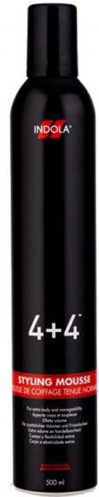 Indola Мусс для укладки 4+4 Styling Mousse - 500 мл1649731/133714Содержащиеся в Муссе для укладки Индола 4+4 катионоактивный кондиционирующий комплекс и увлажняющие компоненты не только придадут вашей прическе идеальную форму, но и бережно защитят и укрепят ваши волосы. При помощи данного средства создавайте самый незаурядный стайлинг.