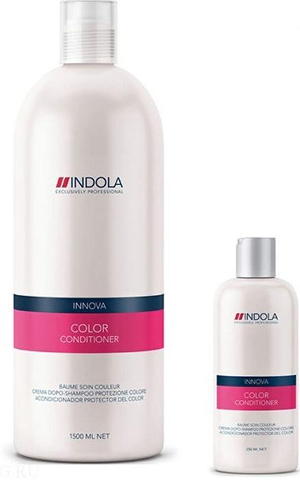 Indola - Кондиционер для окрашенных волос Innova Color Conditioner 1500 мл1635624/154306СТИККондиционер для окрашенных волос Индола поможет сохранить надолго яркость окрашенных волос, даже после 30-го мытья волос. Содержит в себе масла абрикосовых косточек, защитный Уф-фильтр, гидролизованный кератин и экстракты минерала. Данный состав укрепит структуру волос, защитит от вредного воздействия солнечный лучей, придаст блеск, яркость и силу. Уважаемые клиенты! Обращаем ваше внимание на возможные изменения в дизайне упаковки. Качественные характеристики товара остаются неизменными. Поставка осуществляется в зависимости от наличия на складе.