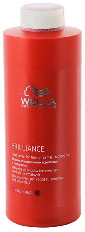 Wella Brilliance Line Бальзам для окрашенных нормальных и тонких волос 1000 мл blu bianco водолазки