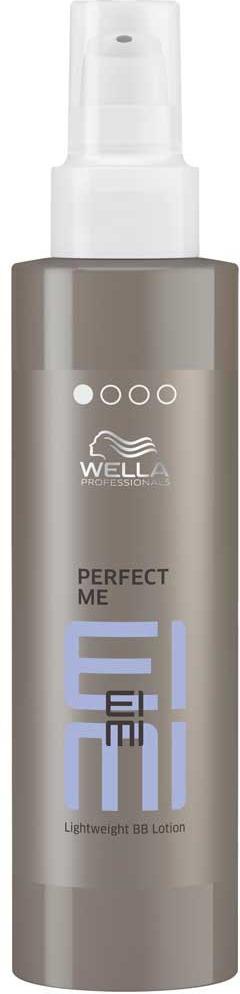 WELLA EIMI Perfect Me - Легкий ВВ-лосьон Гладкость 100 мл81519225/2058Легкий BB-лосьон EIMI Perfect Me от Wella Professionals со степенью фиксации 1. Создайте естественную укладку с изысканной гладкостью при помощи этого нежного лосьона, который увлажняет волосы, делает их послушными, придает блеск и защищает во время укладки.