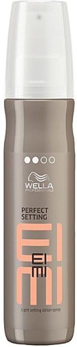 Wella Лосьон для укладки EIMI Perfect Setting, 150 мл0124717/4717Лосьон для укладки со степенью фиксации 2 придаст прическе идеальный объем от самых корней, а также сияющий блеск.