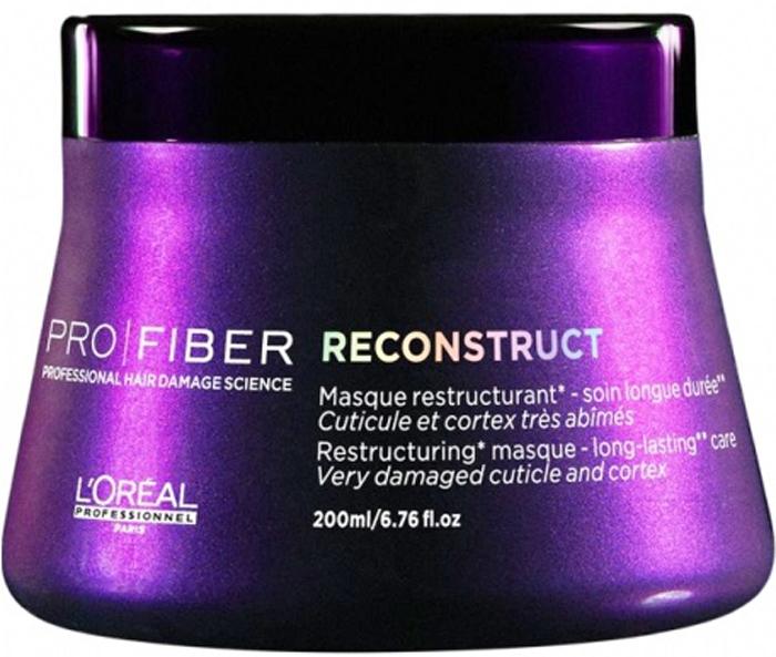 LOreal Professionnel Маска для волос Pro Fiber Reconstruct Masque, 200 млLE1546800Если вы устали бороться с ломкостью и сухостью волос, воспользуйтесь замечательной маской для волос LOreal Professionnel Pro Fiber Reconstruct Masque. Средство поможет вернуть здоровье и блеск потускневшим волосам, а также обезопасить их от негативного влияния перепадов температур и фена, поможет восстанавливающая маска LOreal Professionnel Pro Fiber Reconstruct Masque. Вооружитесь этим великолепным средством – и вашей шевелюрой будут восхищаться миллионы! Маска для волос обогащена миносиланом – специальным силиконовым соединением кремния для укрепления и восстановления структуры волос. Питательное средство эффективно увлажняет и восстанавливает пересушенные волосы.Маска наполняет силой тусклые и поврежденные волосы, делая их более сильными и объемными. Средство наполняет пористые волосы протеином. Теперь Вам не нужно тратить свое время и деньги на салоны красоты! Маска для волос LOreal Professionnel Pro Fiber Reconstruct Masque за считанные дни вернет вашим волосам былую красоту и здоровье.