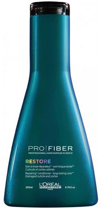 LOreal Professionnel Смываемый уход для сильно поврежденных волос Pro Fiber Restore Conditioner, 200 млLE1545300LOreal Professionnel Pro Fiber Restore Conditioner - Смываемый уход для сильно поврежденных волос 200 млОбильно питает и великолепно оживляет волокно волоса. Волосы выглядят блестящими и становяться значительно более мягкими, гладкими и легкими от корня до кончика.Активные компоненты:- миносилан - силиконовое соединение кремния для связывания внутренних слоев волоса в трехмерную сеть укрепление и восстановление структуры волос- катионный полимер - покрывающий кутикулу волоса защитной пленкой и герметизирующий комплекс Aptyl 100 внутри волоса термозащитные компоненты.