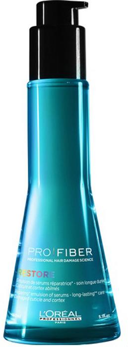 LOreal Professionnel Несмываемый уход для сильно поврежденных волос Pro Fiber Restore Emulsion, 150 млLE1545900LOreal Professionnel Pro Fiber Restore Emulsion - Не смываемый уход для сильно поврежденных волос 150 млОбильно питает и великолепно оживляет волокно волоса. Волосы выглядят блестящими и становяться значительно более мягкими, гладкими и легкими от корня до кончика.Активные компоненты:- миносилан - силиконовое соединение кремния для связывания внутренних слоев волоса в трехмерную сеть укрепление и восстановление структуры волос- катионный полимер, покрывающий кутикулу волоса защитной пленкой и герметизирующий комплекс Aptyl 100 внутри волоса.