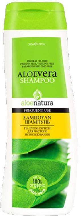 AloeNatura Шампунь для ежедневного ухода 200 мл5200310403033Шампунь для ежедневного применения с экстрактом алоэ питает и оживляет волосы, делая их сильными и блестящими.Подходит для всех типов волос.Косметика произведена в Греции на основе органического сырья, НЕ СОДЕРЖИТ минеральные масла, вазелин, пропиленгликоль, парабены, генетически модифицированные продукты (ГМО)