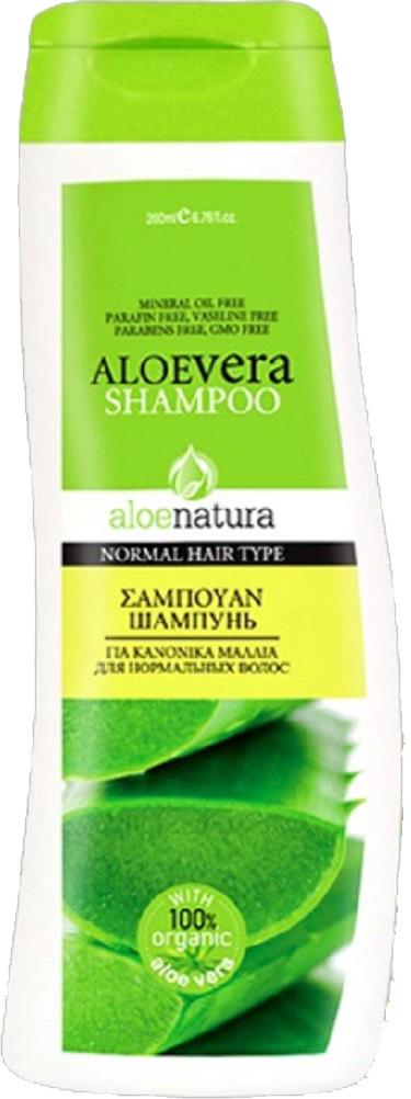 AloeNatura Шампунь для нормальных волос 200 мл шампунь кря кря дыня 200 мл