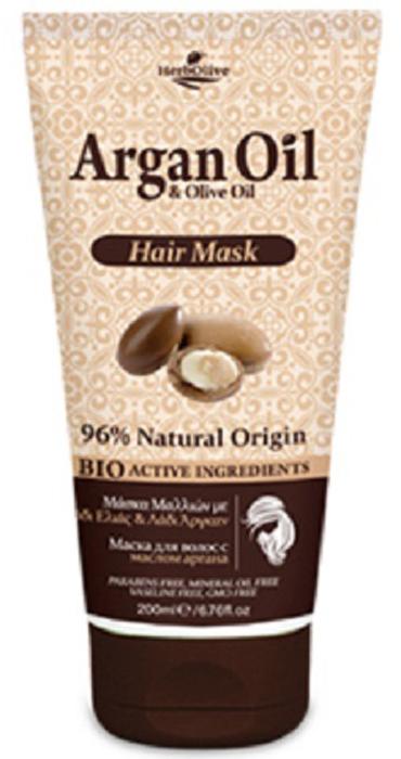 ArganOil Маска для волос с маслом арганы 200 мл115685Маска для волос обогащена органическими маслами арганы и оливы, что создает уникальное сочетание компонентов, которые помогают защитить волосы, оживить цвет и блеск, придать им здоровый вид и объем. Нанесите на влажные чистые волосы, оставьте на 5-10 минут и хорошо смойте водой. Подходит для частого использования. Косметика произведена в Греции на основе органического сырья, НЕ СОДЕРЖИТ минеральные масла, вазелин, пропиленгликоль, парабены, генетически модифицированные продукты (ГМО)