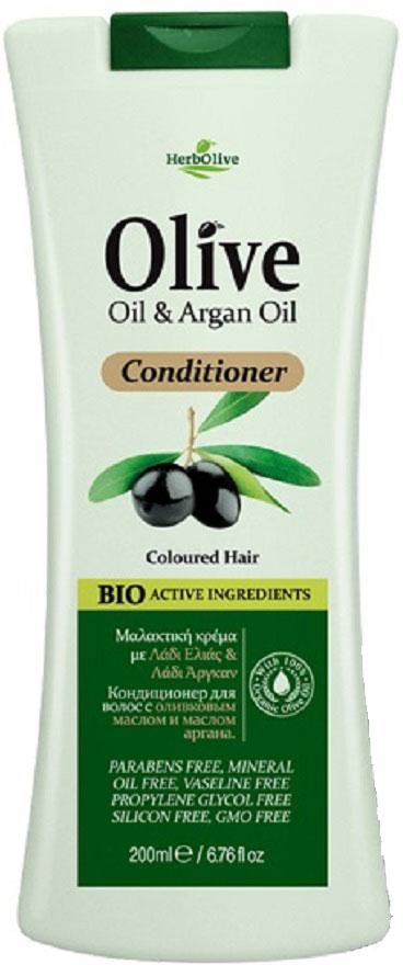 HerbOlive Кондиционер для окрашенных волос с маслом арганы, 200 мл