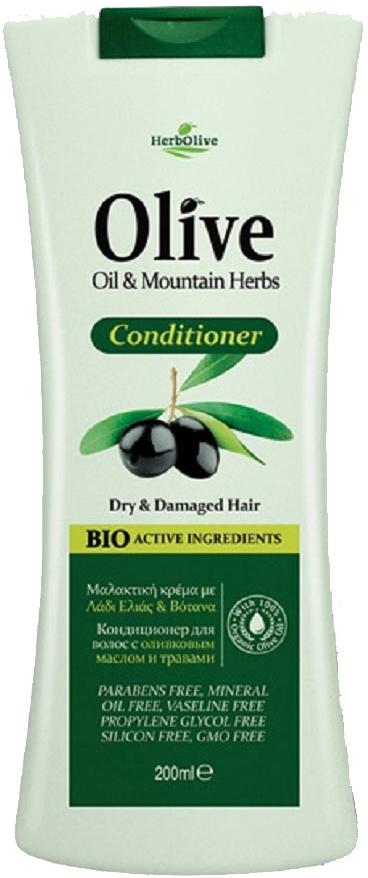 HerbOlive Кондиционер для сухих  поврежденных волос  экстрактами трав 200 мл
